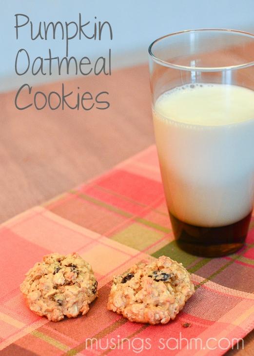 Pumpkin Oatmeal Cookies.