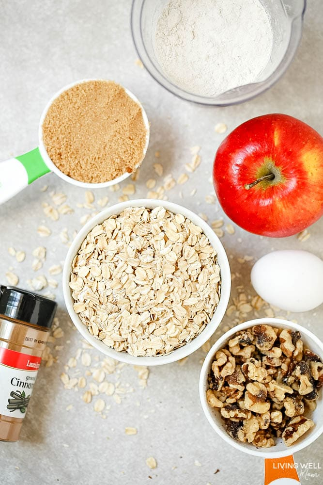 Apple Oatmeal Muffinsare not sweet, which makes them perfect for a morning snack. And they're delicious.