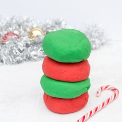 Easy Homemade Playdough for Christmas in 5 Minutes
