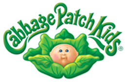 a close of Cabbage Patch Kids logo