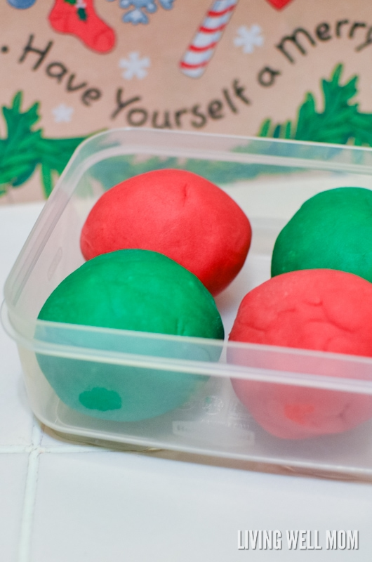 Easy Homemade Playdough for Christmas in Just 5 Minutes