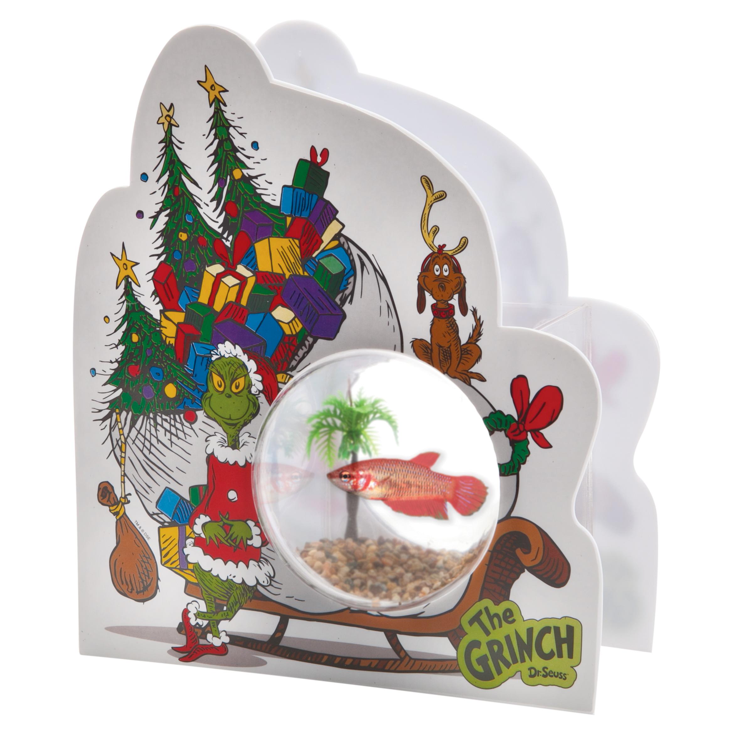 Holiday gift guide petsmart grinch max fish bowl for Fish bowl pets