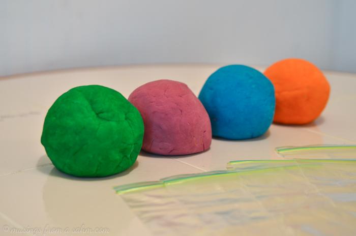 colorful playdough