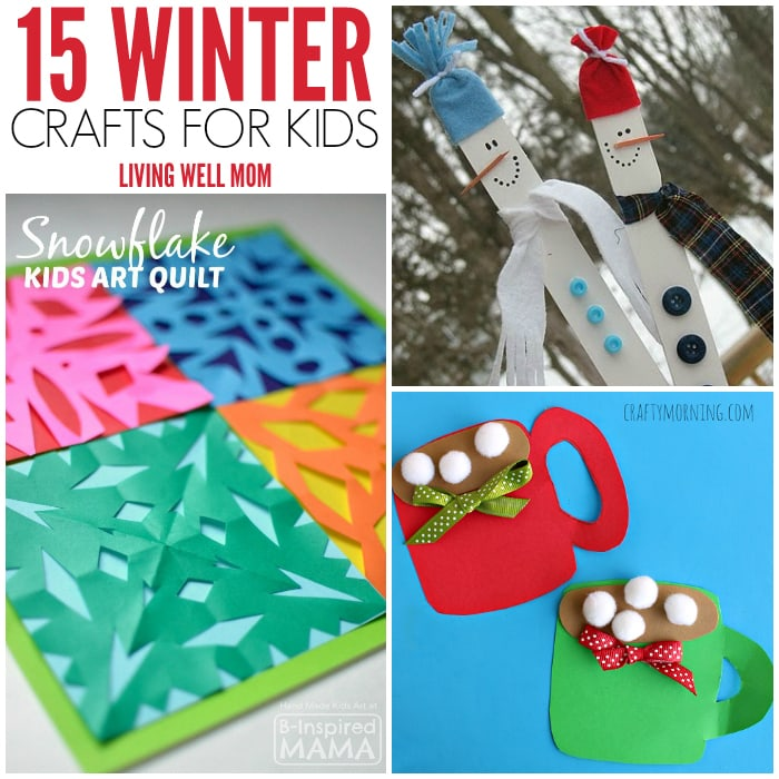 15 winter crafts for kids living well mom