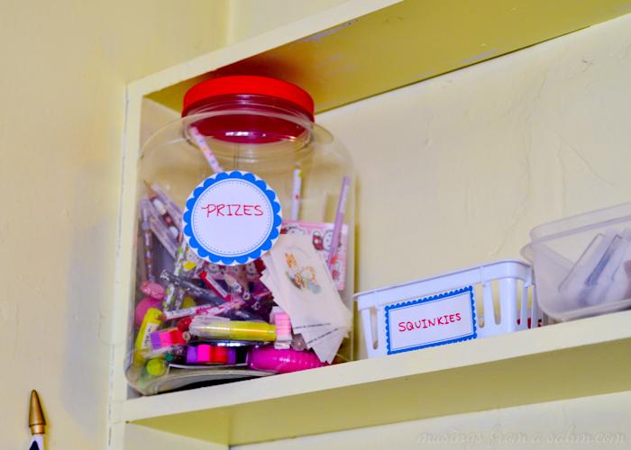 Organize Homeschool Prizes