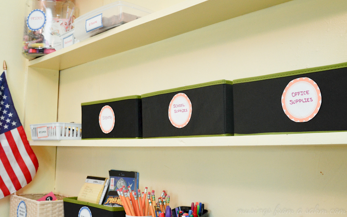 Organize Homeschool Shelves 3