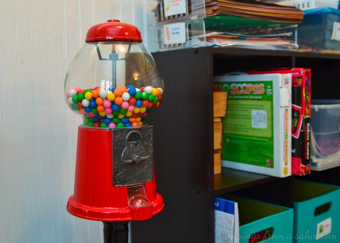 Organize homeschool gumball
