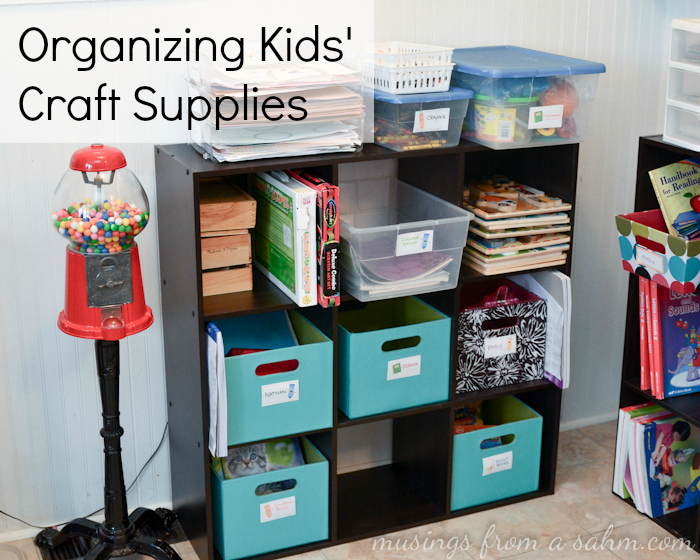 Organizing kids crafts supplies and things musings from for Stay at home craft jobs