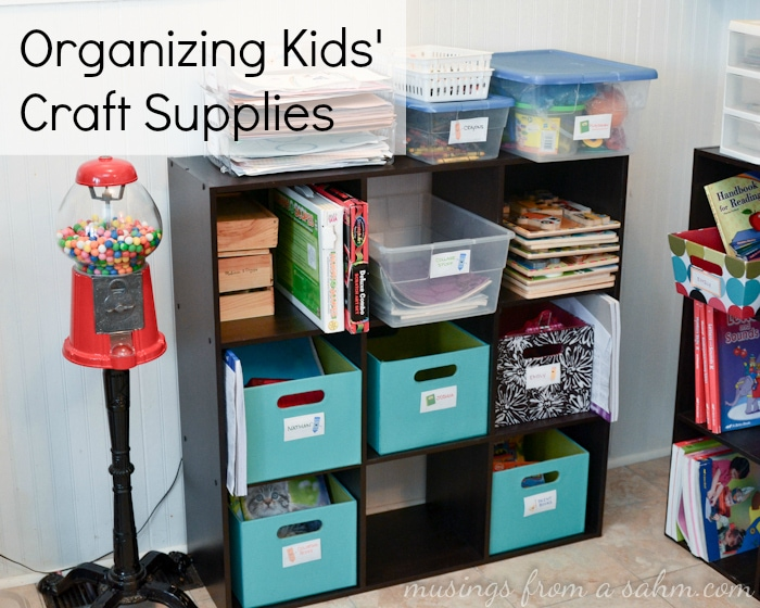 Organizing Kids Crafts Supplies And Things Living Well Mom