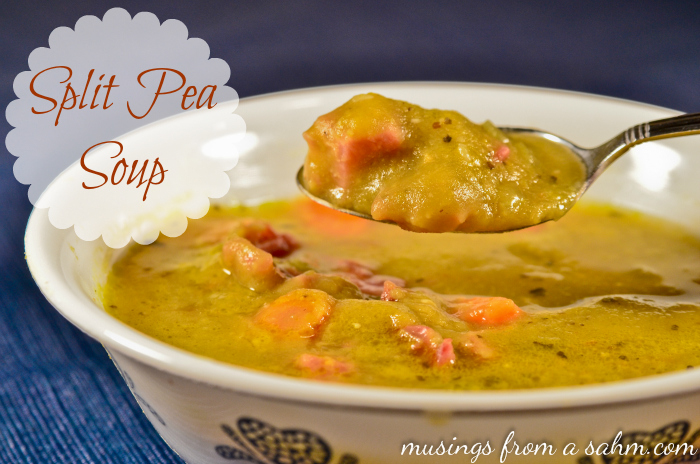 Split Pea Soup with Ham Recipe - Musings From a Stay At Home Mom