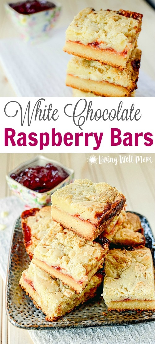 White Chocolate Raspberry Bars recipe - a divinely delicious combination of white chocolate and sweet raspberry that will melt in your mouth!