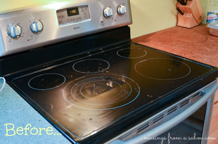 how to clean under stove top burners