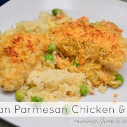 Italian Parmesan Chicken & Rice Recipe with Kraft Fresh Take