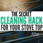 Finally get your stove top sparkling clean with this handy cleaning hack!