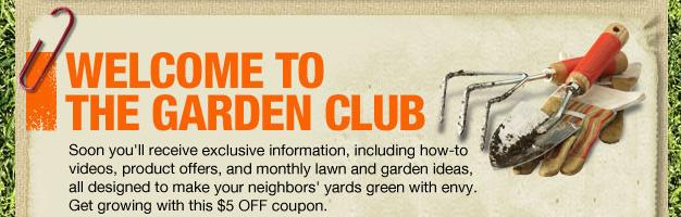 home depot garden club welcome - Home Depot Garden Club