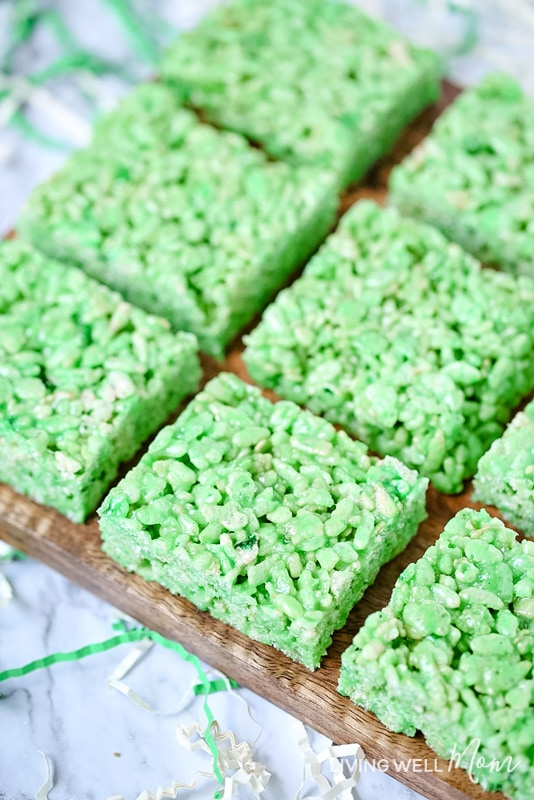 Lime Jello Rice Krispies Treats