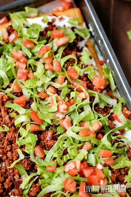"Taco Pizza is a great as an easy family dinner (you can even make it the night before) or a tasty appetizer. Kids love this recipe and the cream cheese/sour cream ""sauce"" and spicy taco flavor are a hit with adults too."