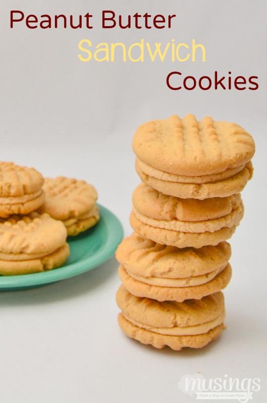 Favorite Peanut Butter Sandwich Cookies - Living Well Mom