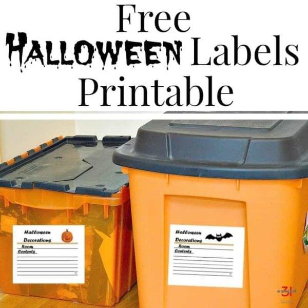 free printable decorative halloween labels