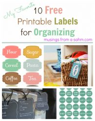 10 Free Printable Labels for Organizing