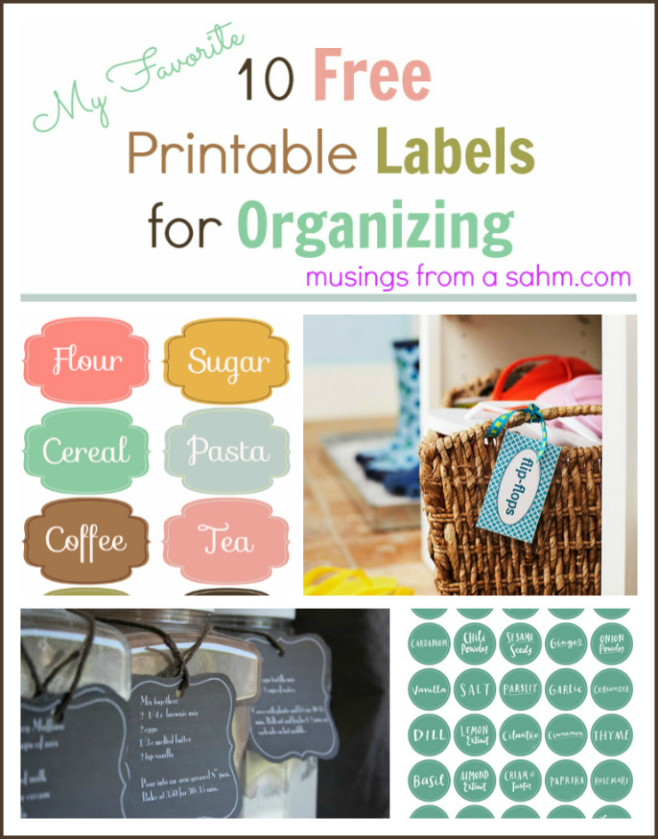 Free PrintableLabels for Organizing