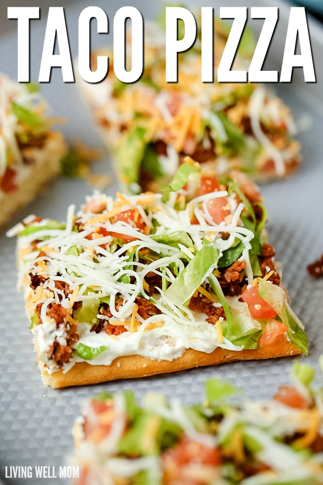 Taco Dinner Party Ideas Part - 49: Taco Pizza Is An Easy Family Dinner (you Can Even Make It The Night Before