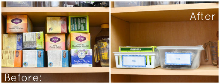 Not sure how to sort those tea bags in your cupboard? Hereu0027s the simple  sc 1 st  Living Well Mom & The Simple Inexpensive Way to Organize Tea