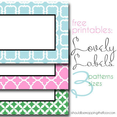 10 free printable labels for organizing living well mom free printable labels in 3 patterns and sizes i should be mopping the floor pronofoot35fo Images