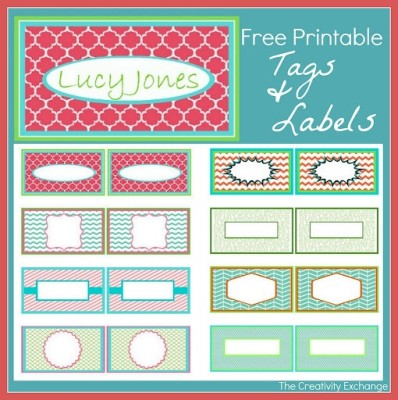 printable tags and laels