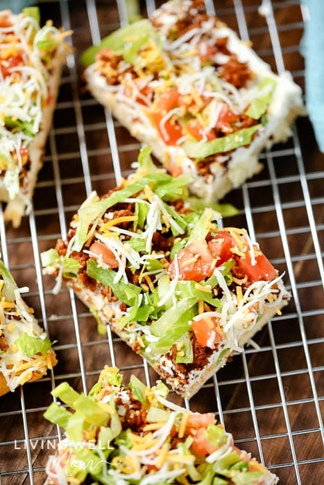 mexican crescent roll taco pizza