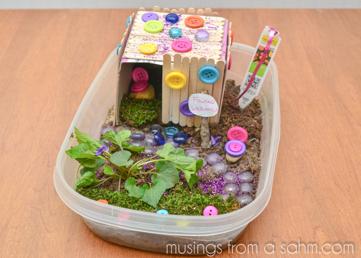 How to make a fairy house craft living well mom for Fun projects for kids to do at home