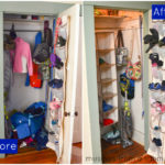 How I Organized Our Coat Closet