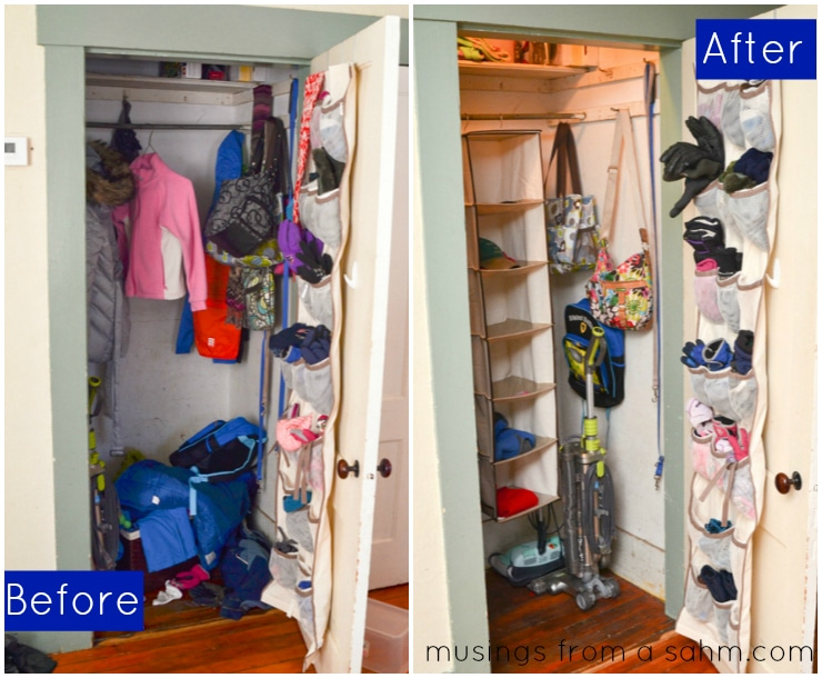 How I Organized Our Coat Closet Living Well Mom