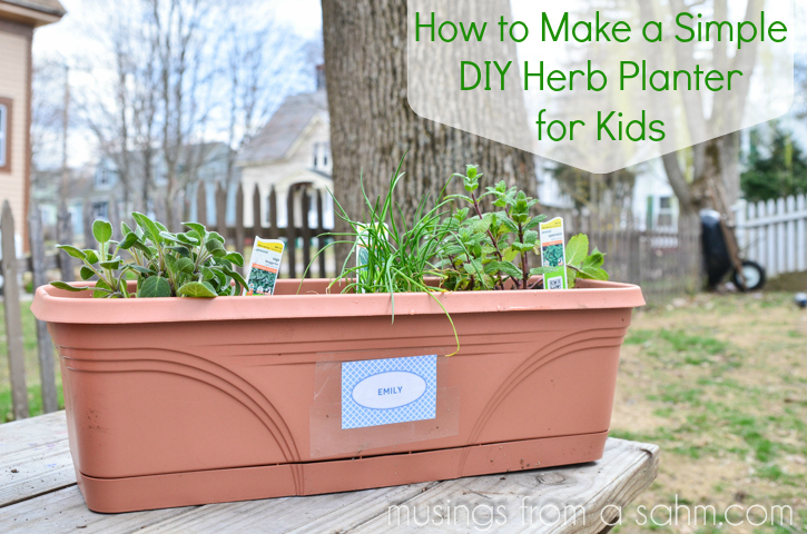 Simple Diy Herb Planters For Kids Musings From A Stay At