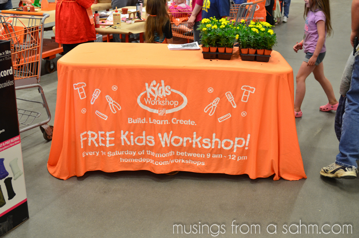 DIY for Kids at The Home Depot Kids Workshop #DigIn - Living Well Mom