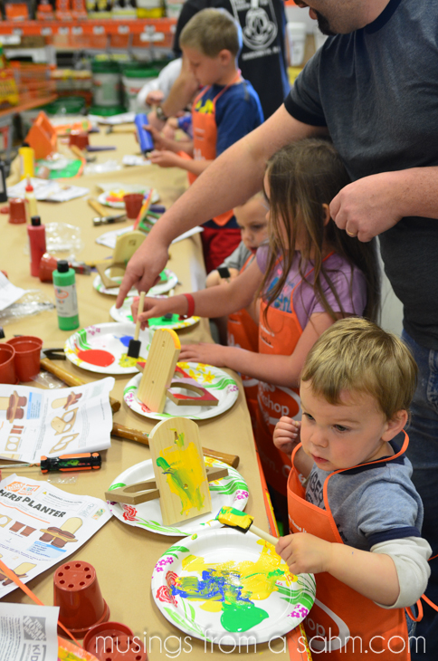 Diy For Kids At The Home Depot Kids Workshop Digin Living Well Mom