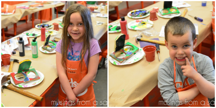 Home Depot Kids Workshop project