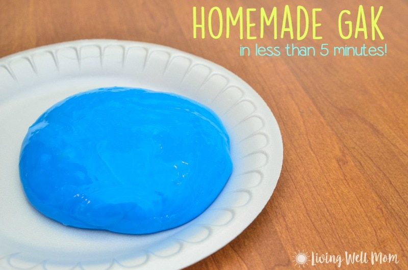 GAK Facebook: Homemade Gak In Less Than 5 Minutes (Step By Step Tutorial