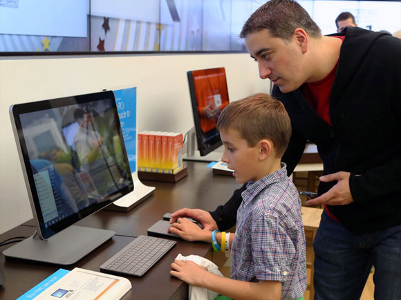 Microsoft store family pc shopping