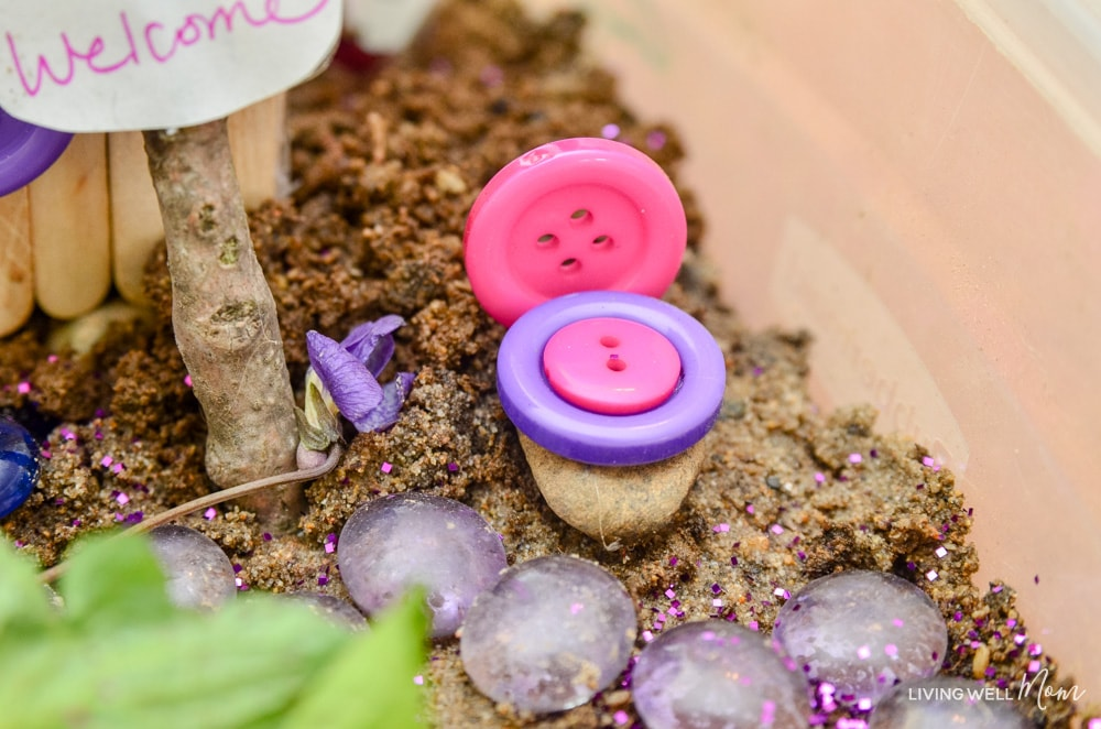 diy fairy house button chair