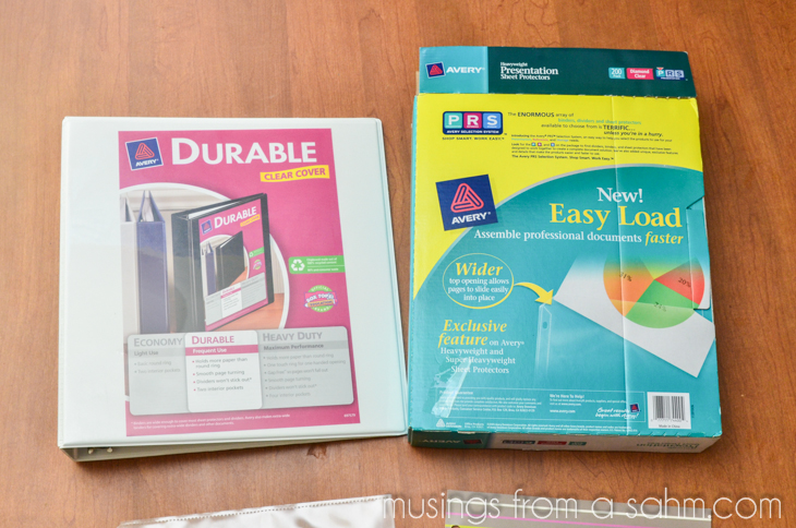 recipe binder supplies