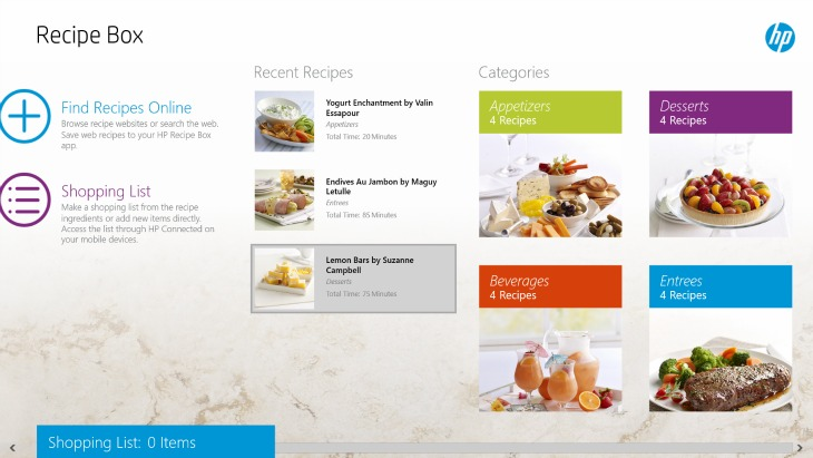 Online Recipe Organization with HP Recipe Box and our HP Envy h8 ...
