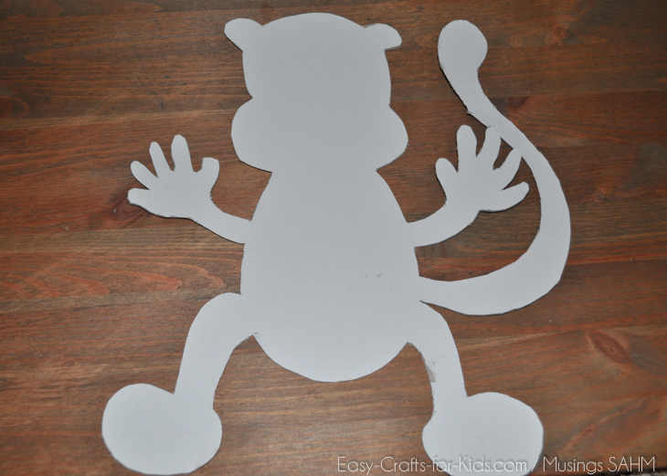 Tissue Paper Monkey Craft