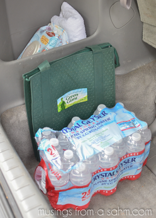 back of mini van