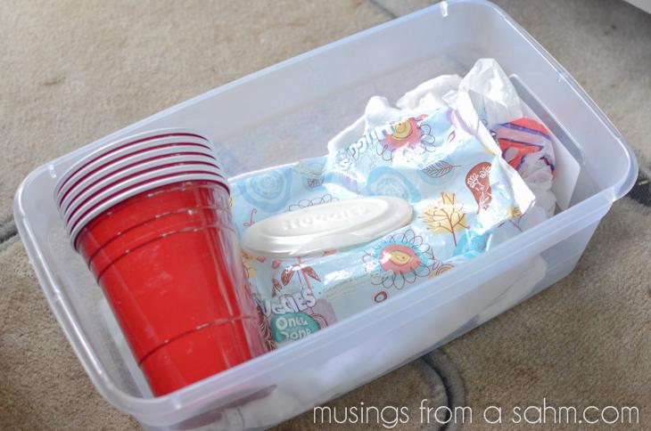 car sick bin supplies
