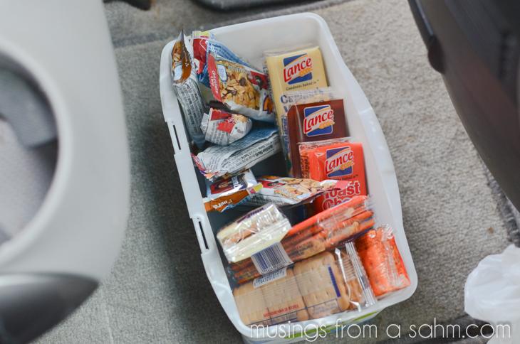 snack bin in car