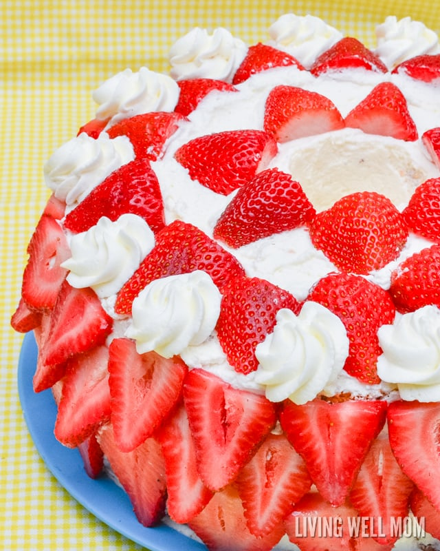 Heavenly strawberries n cream cake recipe this heavenly strawberries n cream cake tastes just as incredible as it looks with forumfinder Image collections