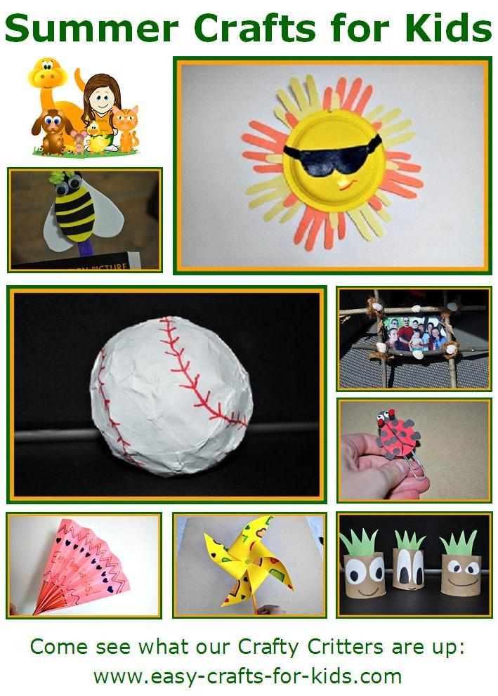 summer-crafts-for-kids-collage