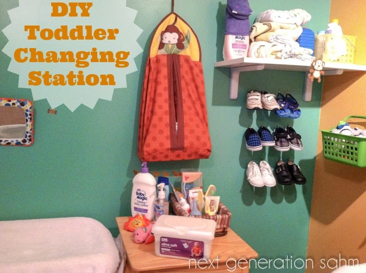DIY Toddler Changing Station
