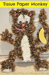 Tissue Paper Monkey Craft